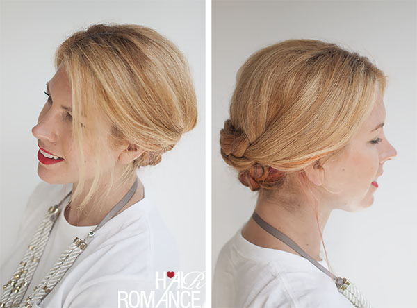 Hair Romance - simple braided updo