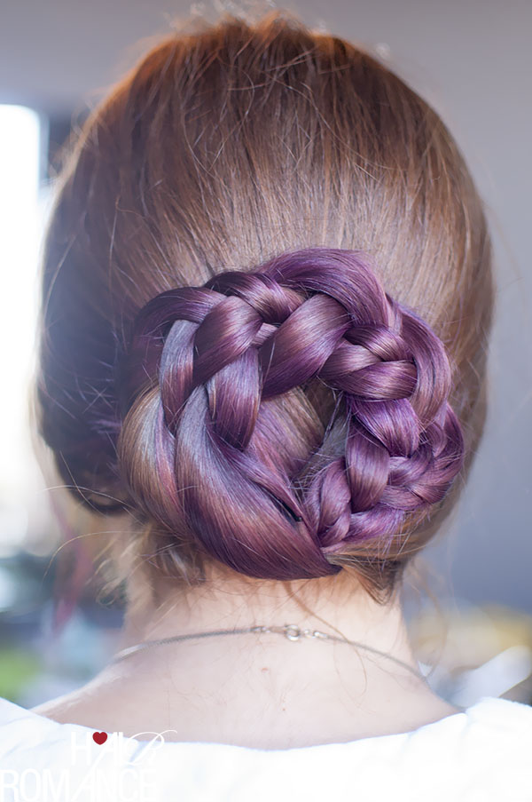 Hair Romance - the braid plait wreath bun