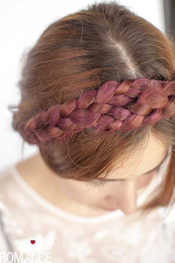 Hair Romance - modern milkmaid braid hair tutorial