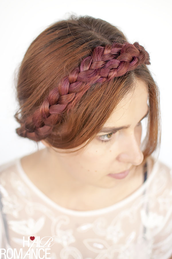Hair Romance - modern milkmaid braid hairstyle