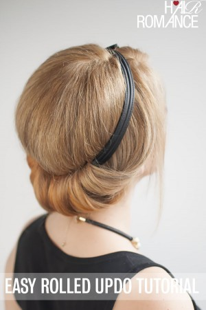 How to do a chic rolled updo