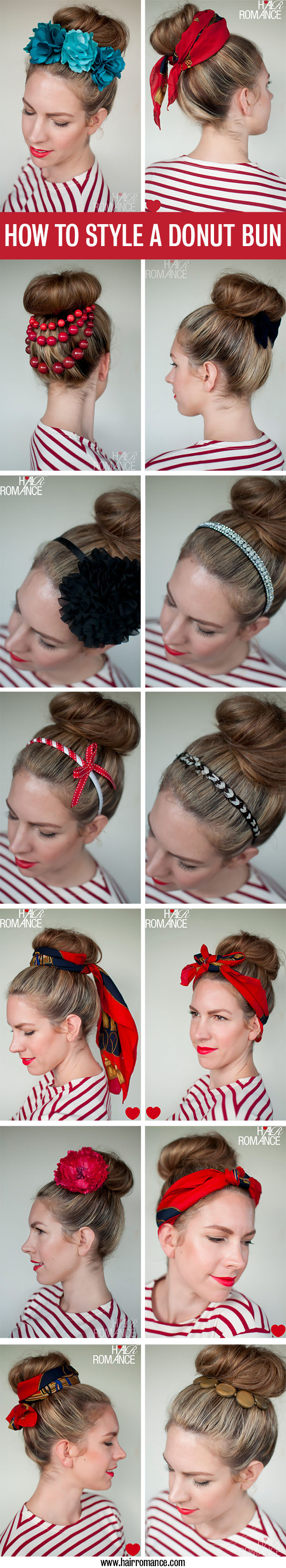 How to style a donut bun - Hair Romance