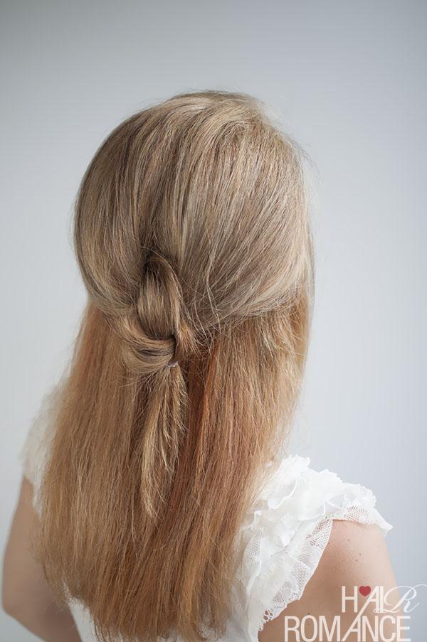 Knot your average half pony hairstyle tutorial - @HairRomance