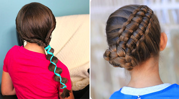Ribbon Loony Braid and Zipper Braid by Cute Girls Hairstyles
