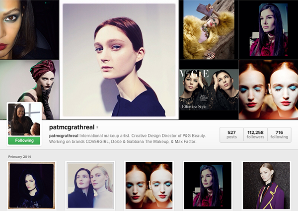 Best makeup artists on instagram - Pat McGrath