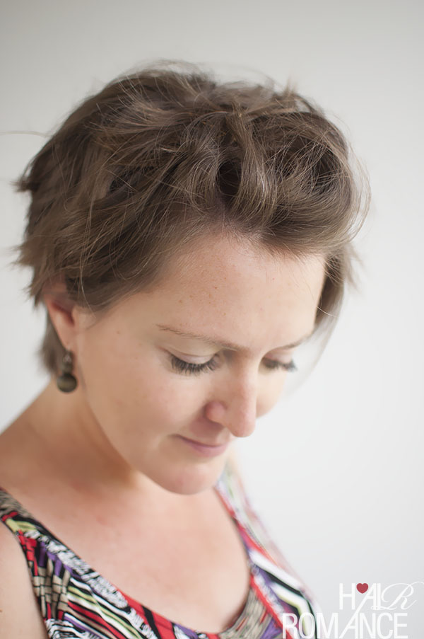 Hair Romance - How to style a pixie cute - curly pin back