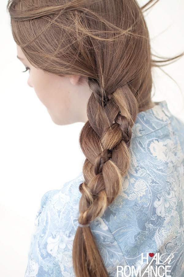 Hair Romance - Pretty braid in a 4 strand side braid
