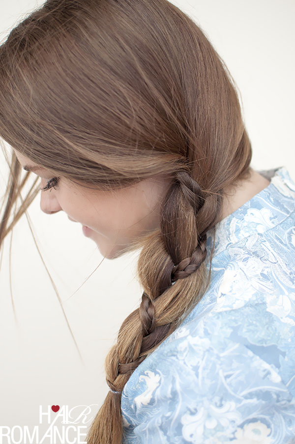 Hair Romance - Pretty braid in a side braid tutorial