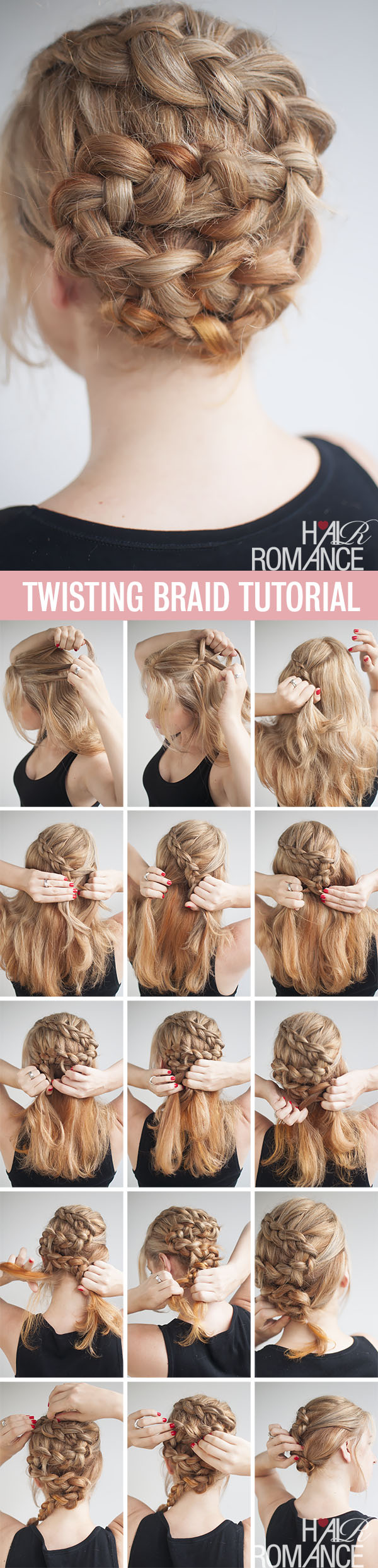 Hair Romance - Twisting braid hairstyle tutorial