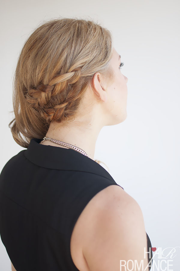 Hair Romance - double braid side sweep hair style