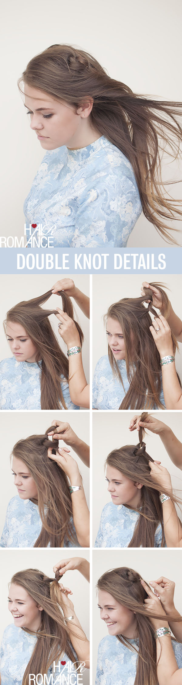 Hair Romance - double knot hairstyle tutorial