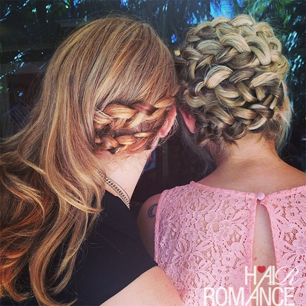 Hair Romance - side braid and twisting braid