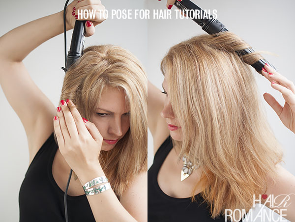 How to pose with hair styling tools - Hair Romance