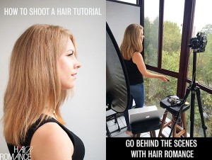 How to shoot a hair tutorial – Go behind the scenes with Hair Romance