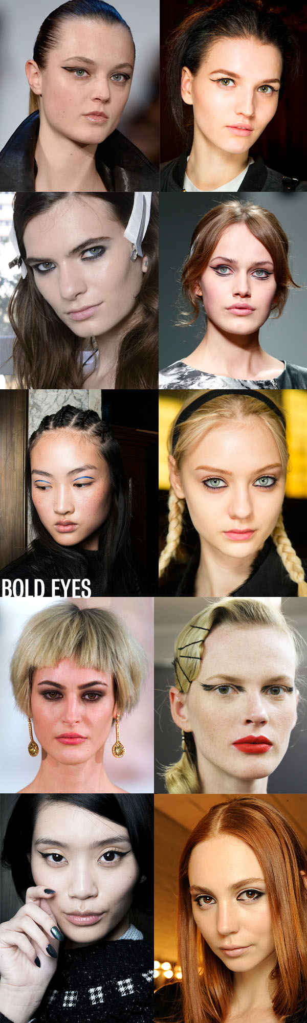 NYFW Beauty trends - bold eyes