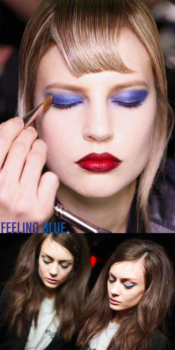 NYFW beauty trends to try - feeling blue