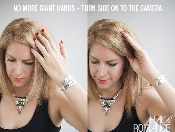 No more giant hands - posing trick