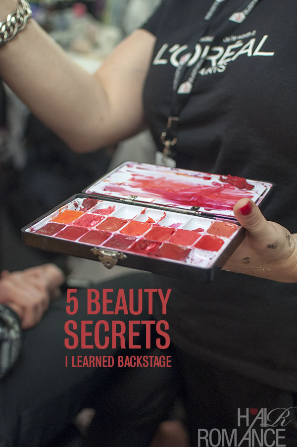 5 Beauty Secrets I Learned Backstage at VAMFF - Hair Romance