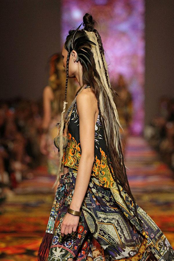 Big Hair Friday - Tribal dreads at Camilla VAMFF 1