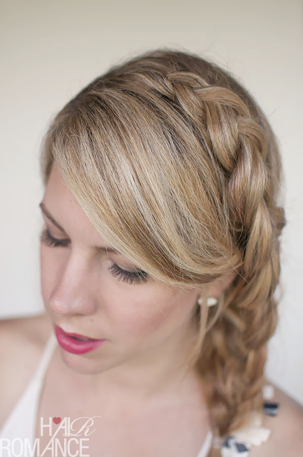 Hair Romance - a Dutch side mermaid braid