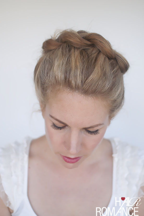 Hair Romance - braided crown hair tutorial