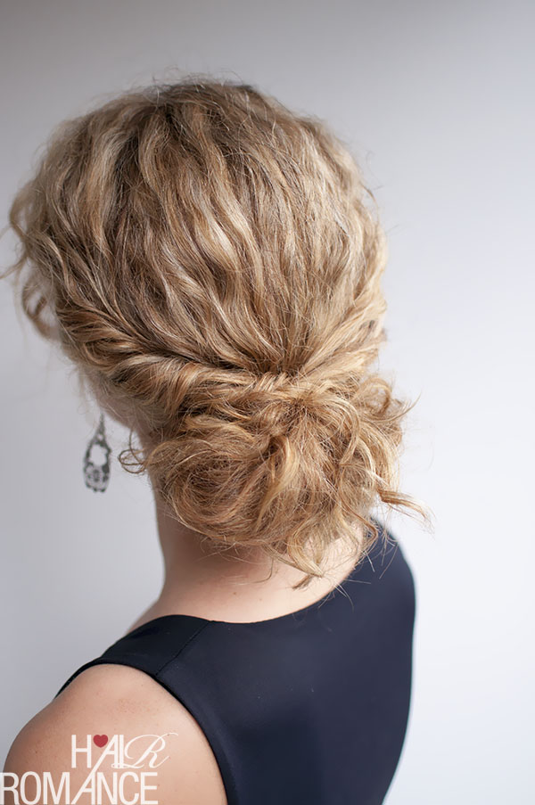 Hair Romance - curly hairstyle - twist-tuck bun