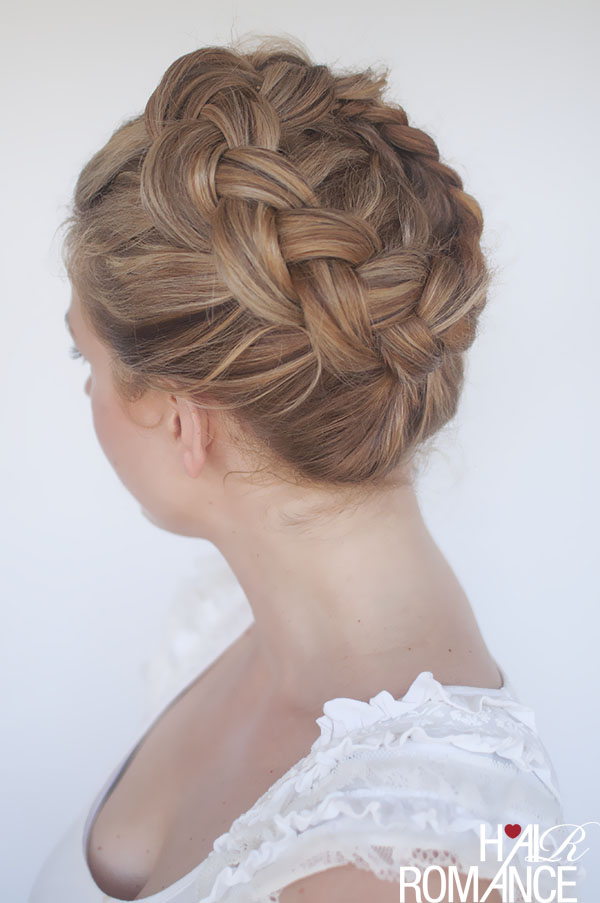 Hair Romance - high braided crown hairstyle