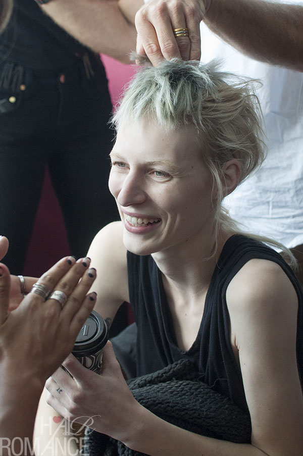 Hair Romance - Scenes from MBFWA 2014 Day 1 - Julia Nobis at Ellery