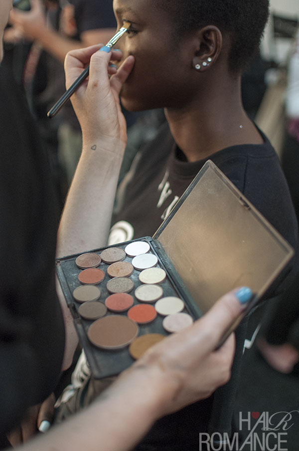 Hair Romance - Scenes from MBFWA 2014 Day 1 - makeup at By Johnny