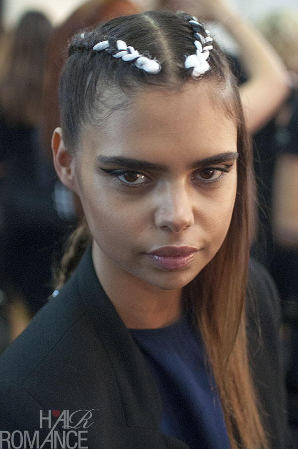Hair Romance - Scenes from MBFWA 2014 Day 1 - the gorgeous Sam Harris at Desert Designs
