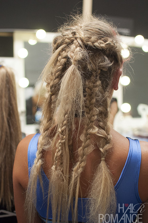Hair Romance - Scenes from MBFWA 2014 Day 1 - tribal braids at NLP