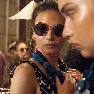 Hair Romance - Scenes from MBFWA 2014 Day 2 - Backstage at Talulah swim