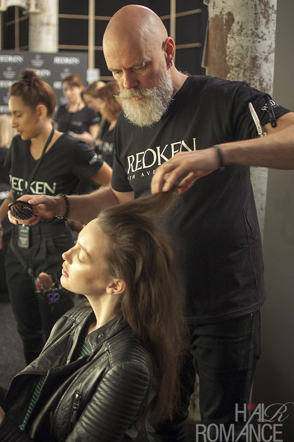 Hair Romance - Scenes from MBFWA 2014 Day 2 - Phil Barwick backstage at Michael lo Sordo