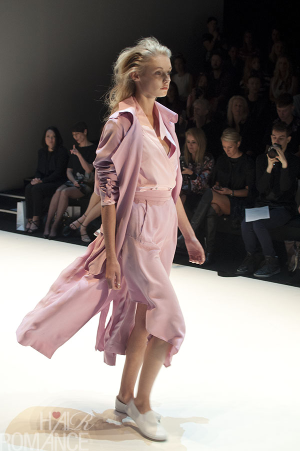Hair Romance - Scenes from MBFWA 2014 Day 2 - The colour of the season - blush pink at Michael Lo Sordo