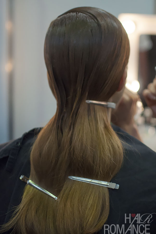 Hair Romance - Scenes from MBFWA 2014 Day 2 - sleek hair at Serpent and the Swan