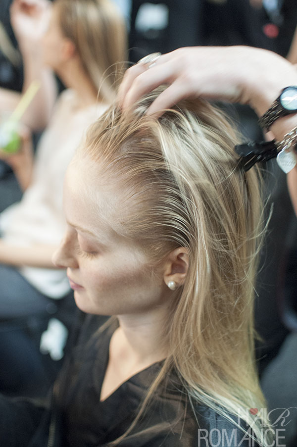 Hair Romance - Scenes from MBFWA 2014 Day 3 - Backstage hair at Suboo