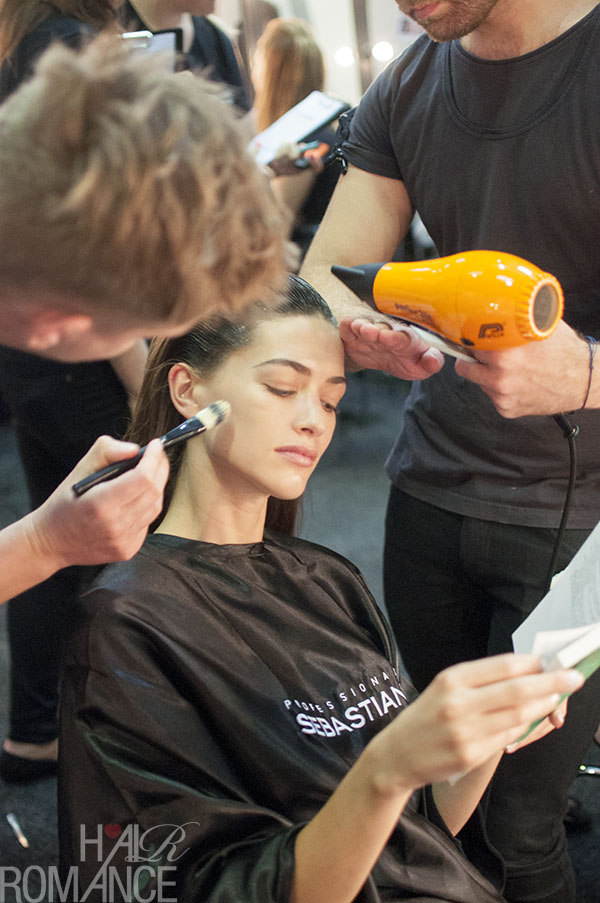 Hair Romance - Scenes from MBFWA 2014 Day 3 - Peace in the chaos backstage