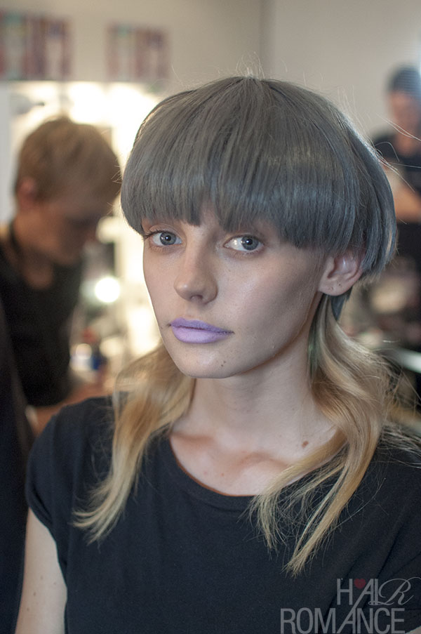 Hair Romance - Scenes from MBFWA 2014 Day 3 - lilac 90s mullets at Emma Mullholland