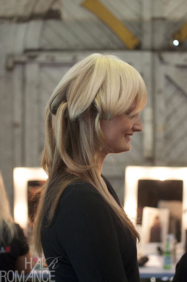 Hair Romance - Scenes from MBFWA 2014 Day 4 - Backstage hair at Macgraw