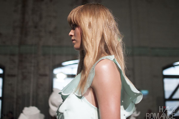 Hair Romance - Scenes from MBFWA 2014 Day 4 - Glitter hair at Alice McCall