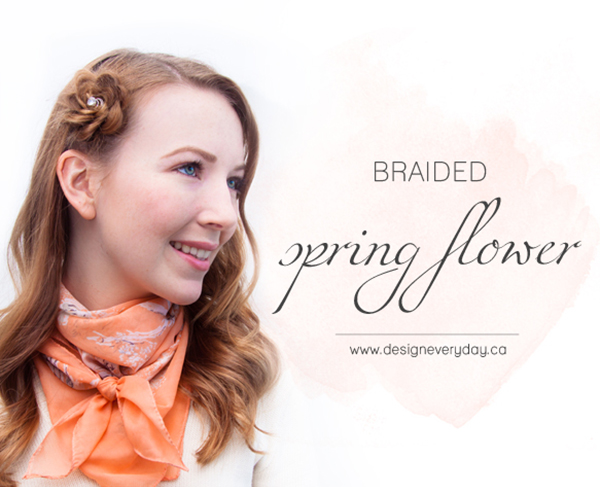 Hair Romance - Spring Flower Hair Tutorial by Design Everyday