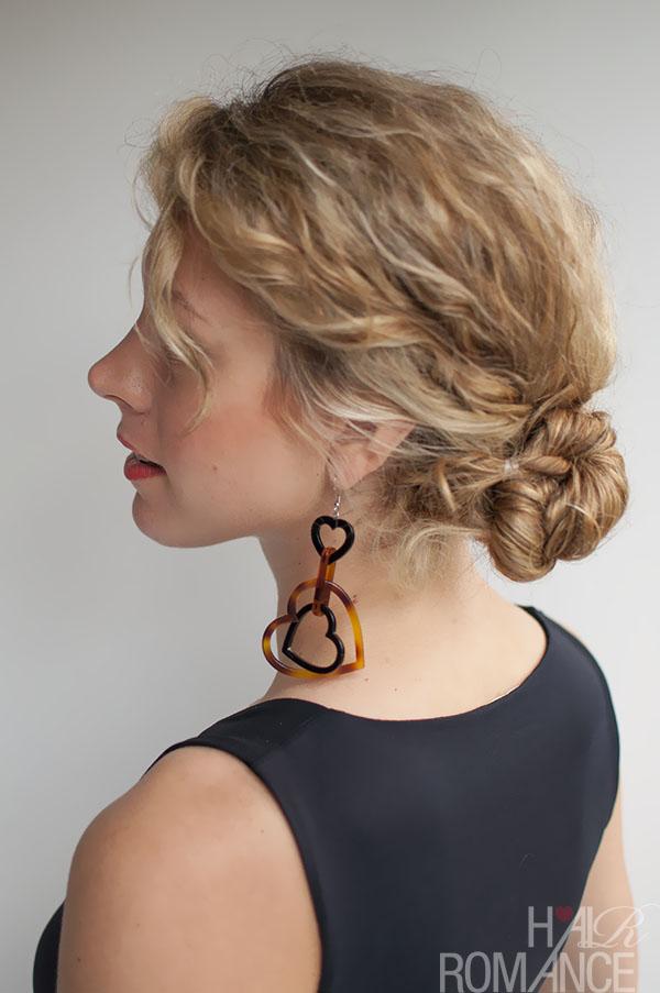 Curly hairstyle tutorial the Twist Tuck Bun Hair Romance
