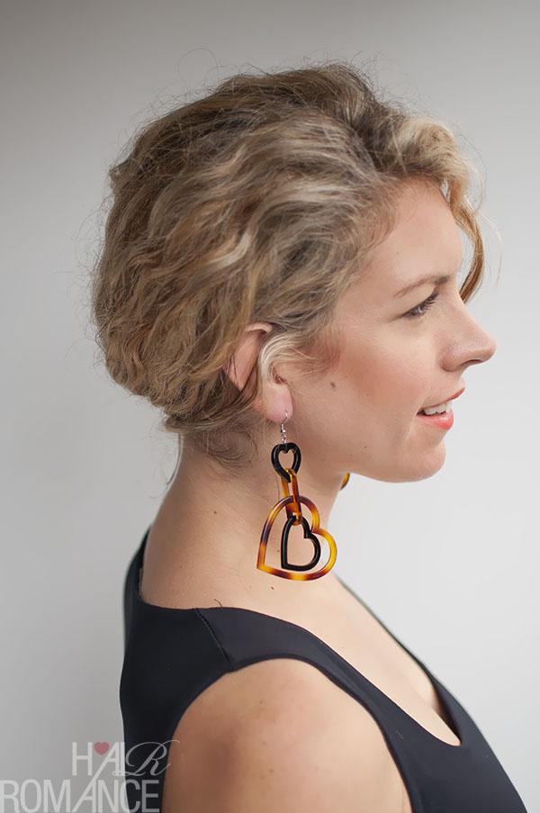Hair Romance - rope twist braid bun hairstyle tutorial in curly hair