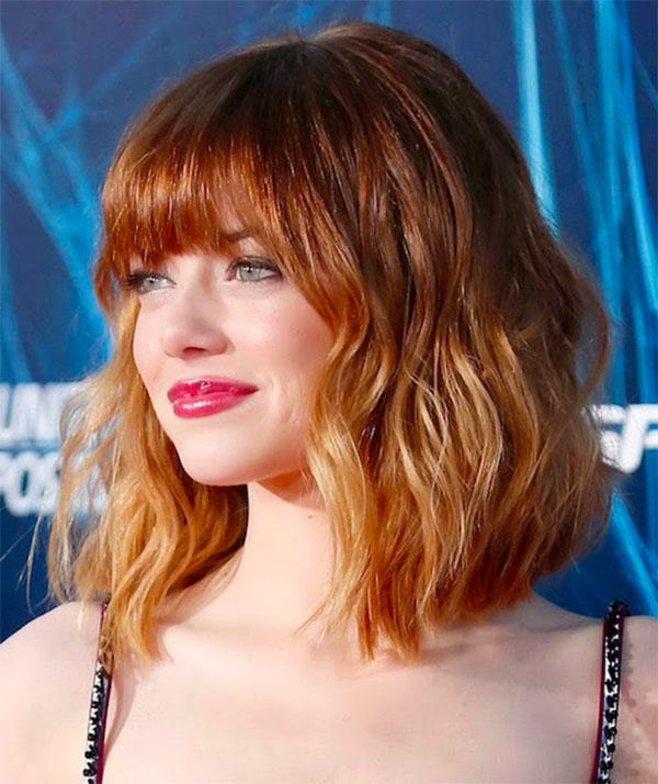 Emma Stone - gorgeous bob haircut and that colour