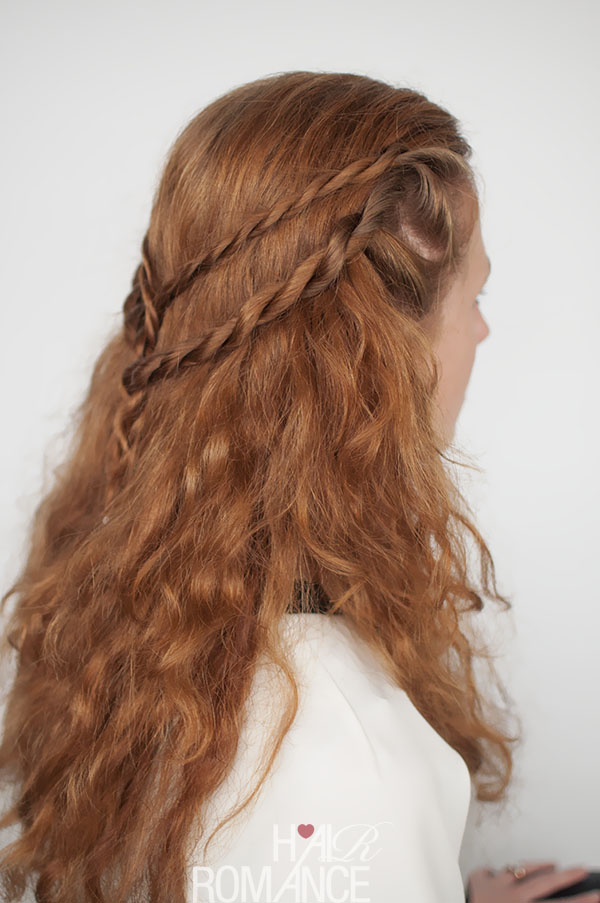 Game of Thrones hair tutorial - Cersei Lannister - rope twist hairstyle