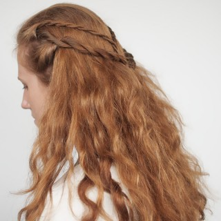 Game of Thrones hair tutorials - Cersei Lannister - rope twist braid hairstyle