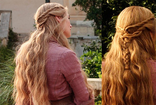 Game of Thrones hair tutorials - Cersei Lannister rope twist hairstyle
