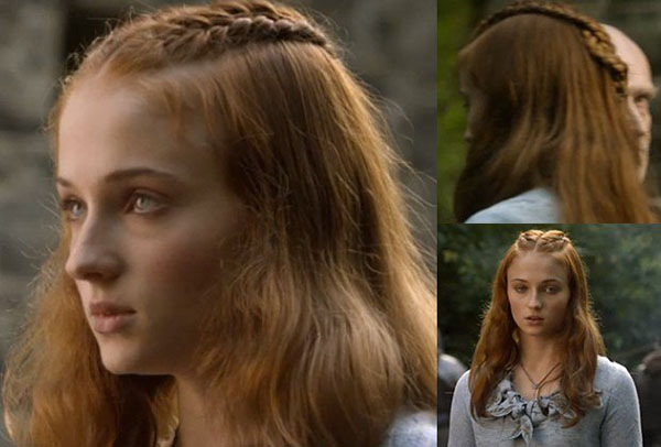 Game of Thrones hair tutorials - Sansa Stark braids
