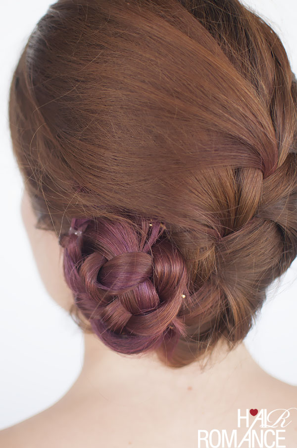 Hair Romance - French braid bun hairstyle