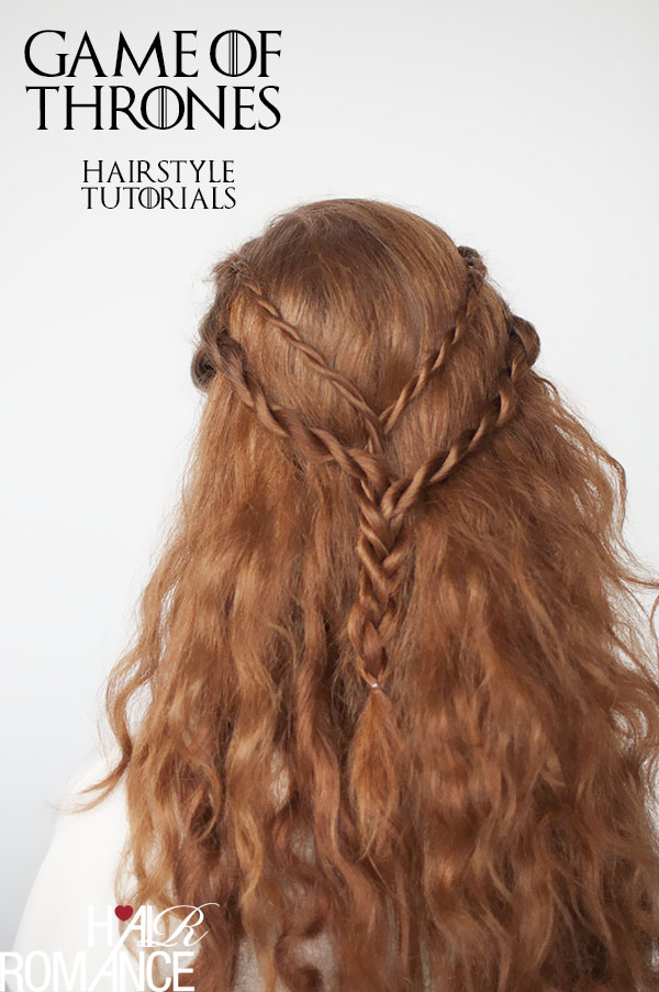 Hair Romance - Game of Thrones hairstyle tutorials - Cersei Lannister braids